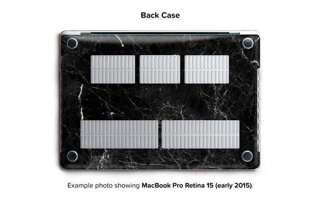 New Black Marble Hard Case for MacBook Pro Retina 15 - back/bottom case