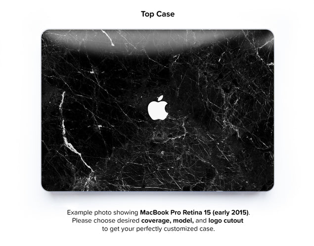New Black Marble Hard Case for MacBook Pro Retina 15 - top case