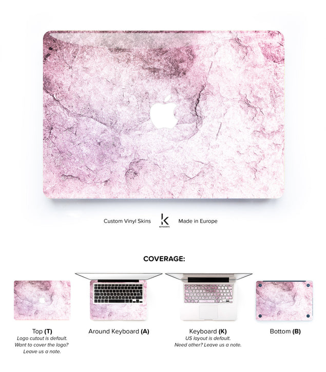New Pink Marble MacBook Skin at Keyshorts.com - 1
