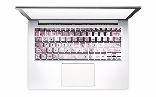 New Pink Marble Laptop Keyboard Decal