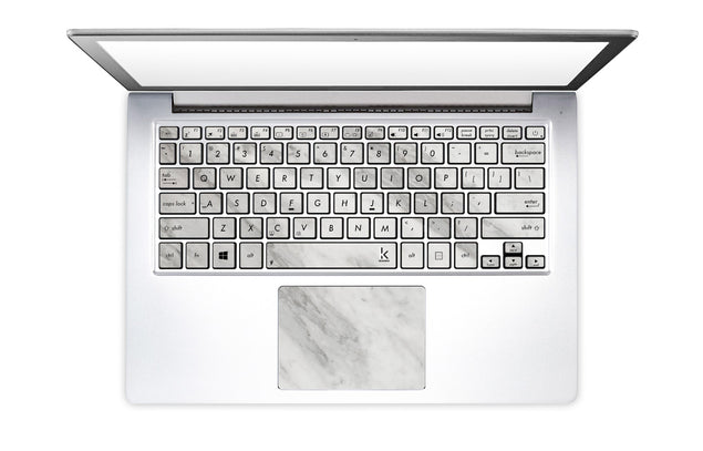 New White Marble Laptop Keyboard Stickers
