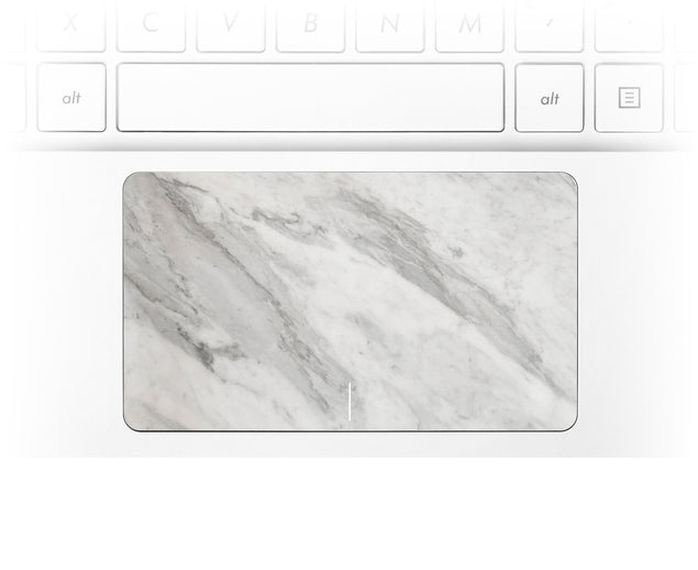 New White Marble Laptop Trackpad Sticker