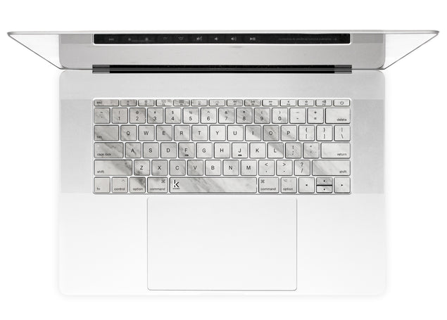 New White Marble MacBook Keyboard Stickers alternate