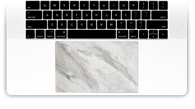 New White Marble MacBook Trackpad Sticker
