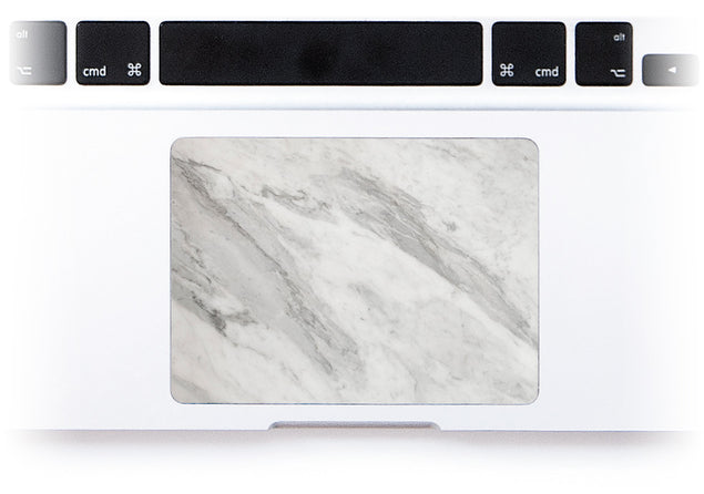 New White Marble MacBook Trackpad Sticker alternate