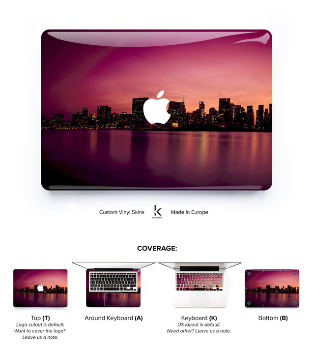 New York Sunset MacBook Skin at Keyshorts.com