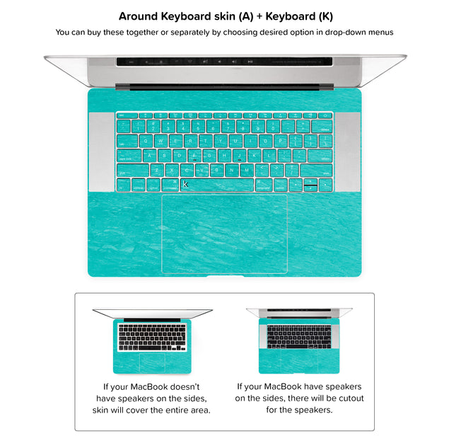 No regret MacBook Skin - around keyboard skin