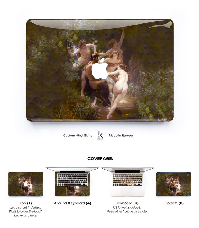 Nymphs and Satyr MacBook Skin at Keyshorts.com