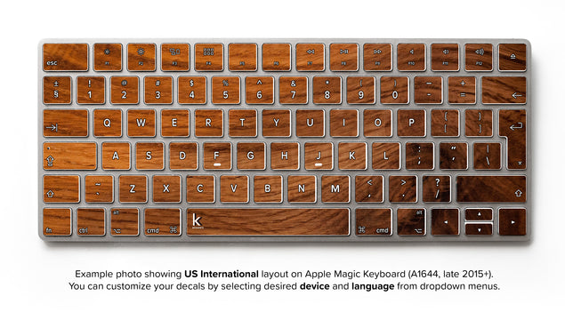 Old Wood iMac Keyboard Skin