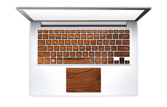 Old Wood Laptop Keyboard Stickers
