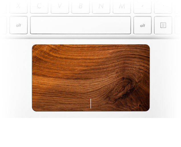 Old Wood Laptop Trackpad Sticker