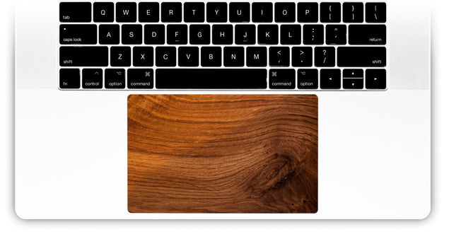 Old Wood MacBook Trackpad Sticker