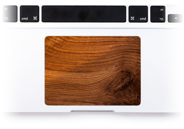 Old Wood MacBook Trackpad Sticker alternate