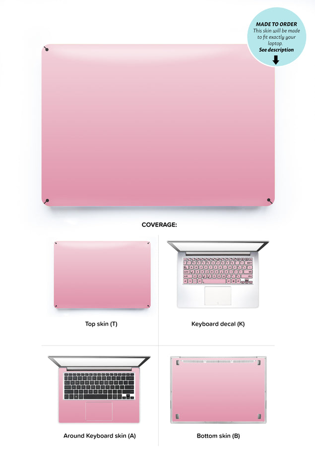Ombre in Pink Laptop Skin