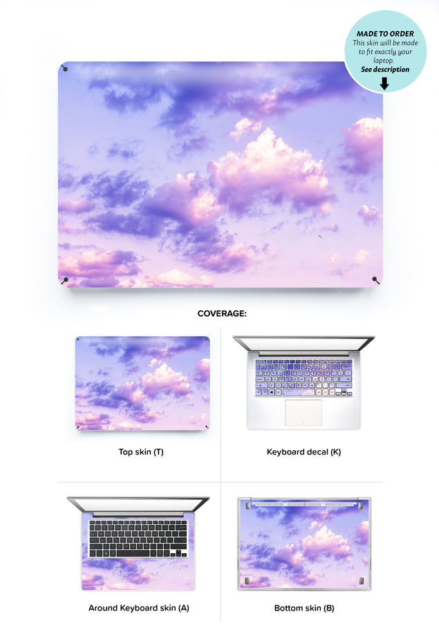 One Bird Sky Laptop Skin