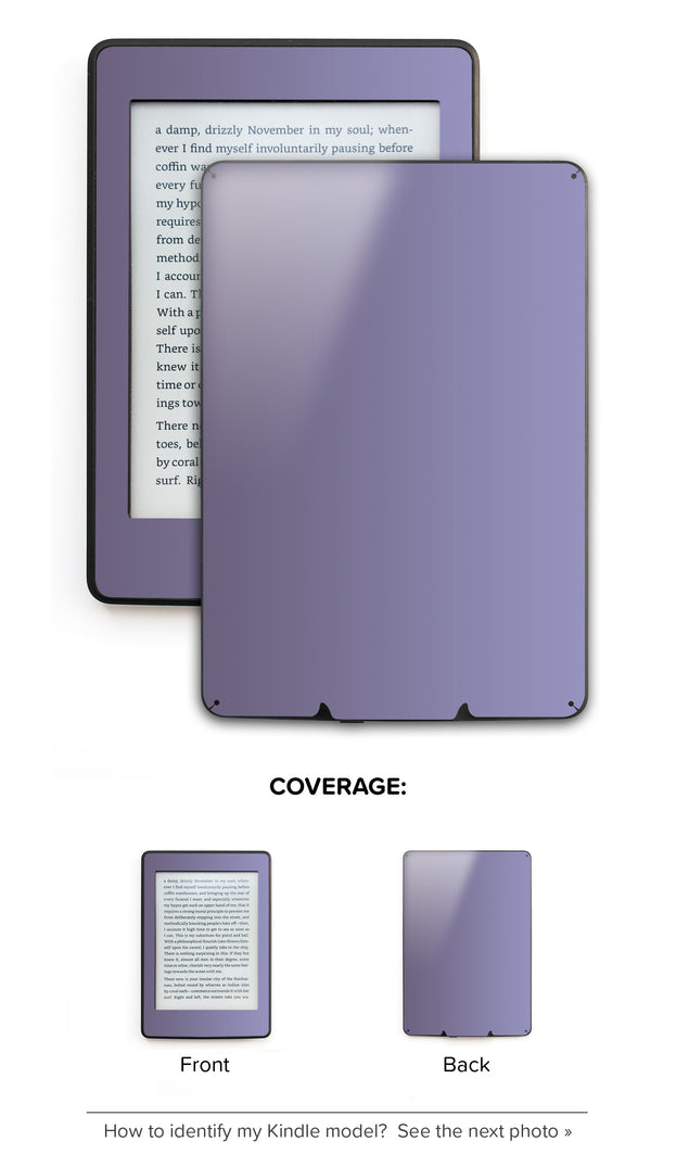 Orchid Gray Kindle Skin