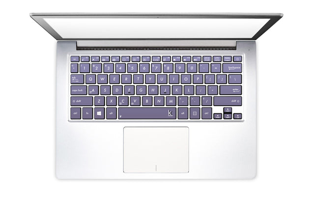 Orchid Gray Laptop Keyboard Stickers
