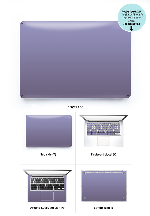 Orchid Gray Laptop Skin
