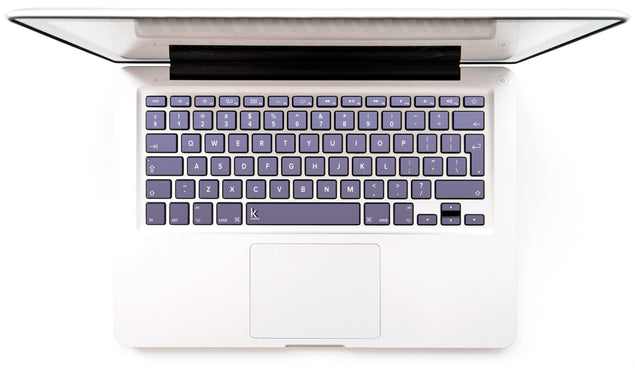 Orchid Gray MacBook Keyboard Stickers