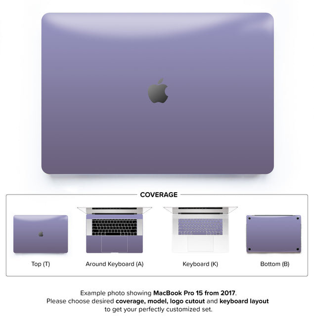Orchid Gray MacBook Skin