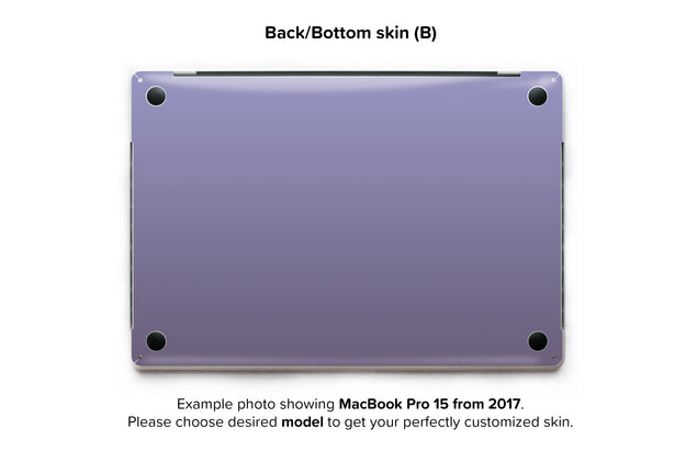 Orchid Gray MacBook Skin - back skin