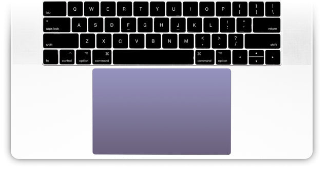 Orchid Gray MacBook Trackpad Sticker