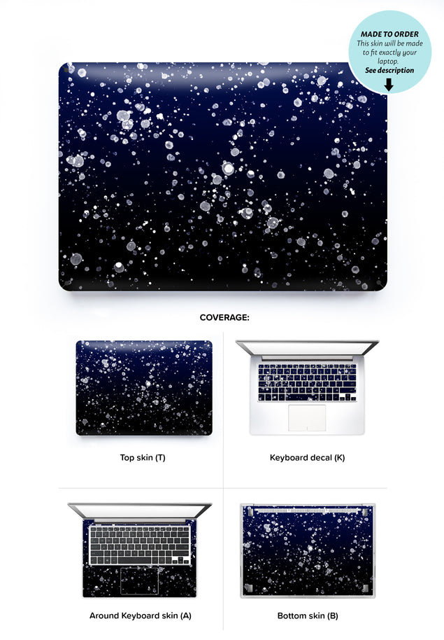 Painting At Night Laptop Skin