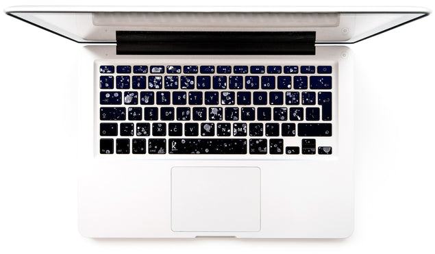 Painting At Night MacBook Keyboard Stickers
