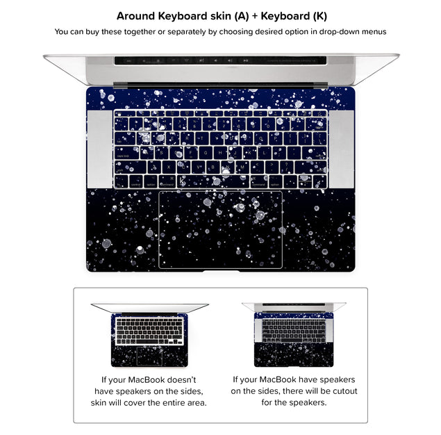 Painting At Night MacBook Skin - around keyboard skin