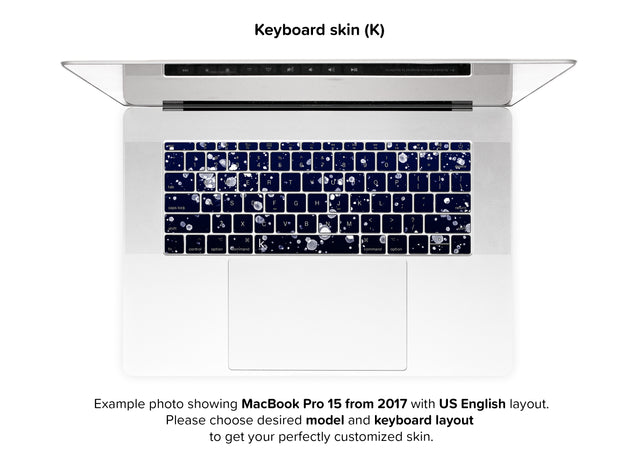 Painting At Night MacBook Skin - keyboard stickers