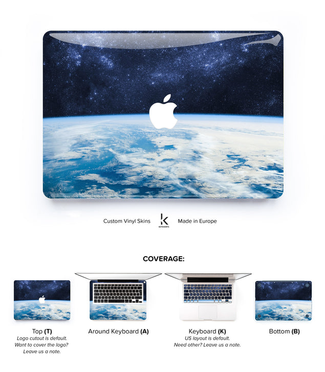 Pale Blue Dot MacBook Skin at Keyshorts.com