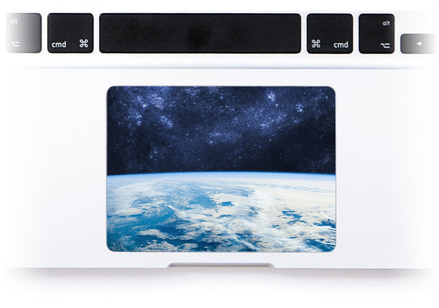 Pale Blue Dot MacBook Trackpad Sticker at Keyshorts.com