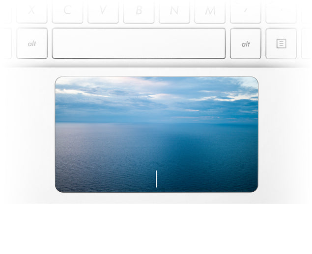 Pastel Ocean Laptop Trackpad Sticker