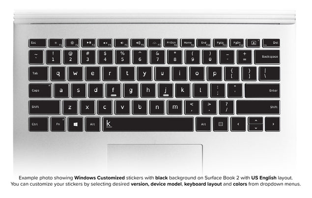Dyslexia Laptop Customized Keyboard Stickers