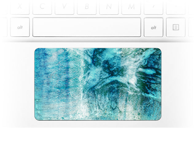 Teal Tie Dye Laptop Trackpad Sticker
