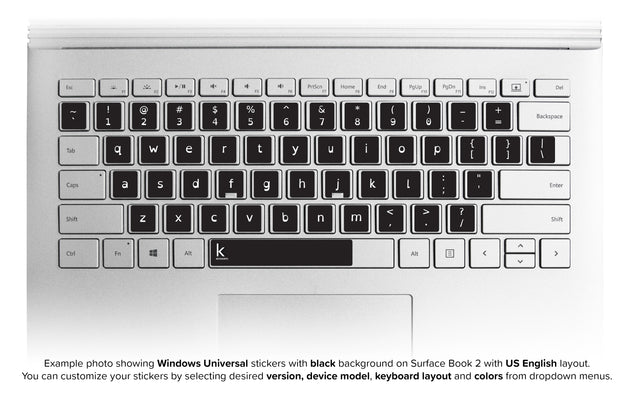 Dyslexia Laptop Universal Keyboard Stickers