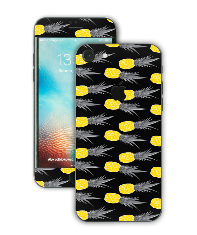 Pineapple Black iPhone Skin