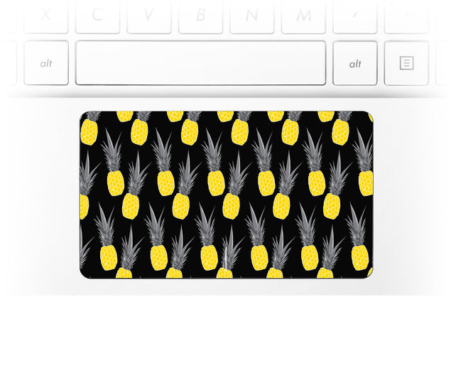 Pineapple Black Laptop Trackpad Sticker