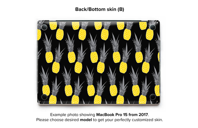 Pineapple Black MacBook Skin - back skin