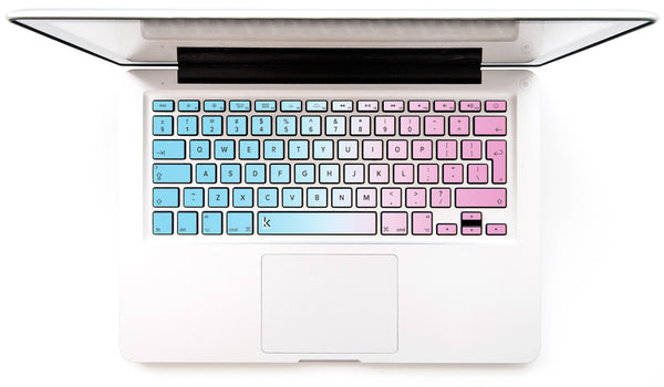 MacBook Keyboard Decal Pink Blue Ombre | Keyshorts