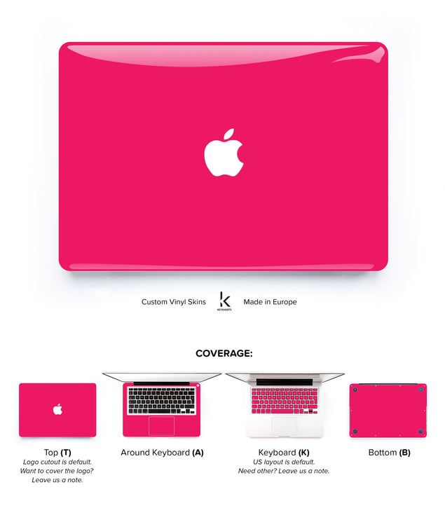 So Pink MacBook Skin at Keyshorts.com