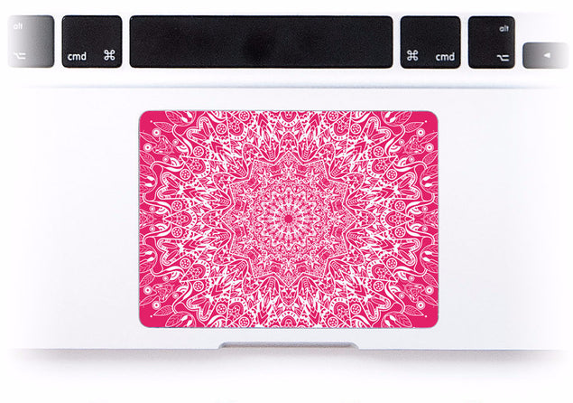 Pink Mandala MacBook Trackpad Sticker at Keyshorts.com