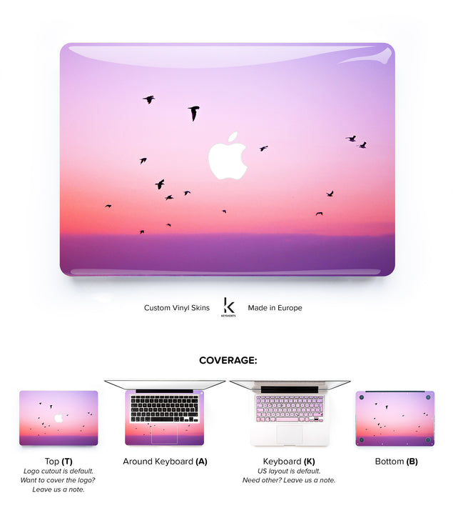 Pink Coast MacBook Skin at Keyshorts.com