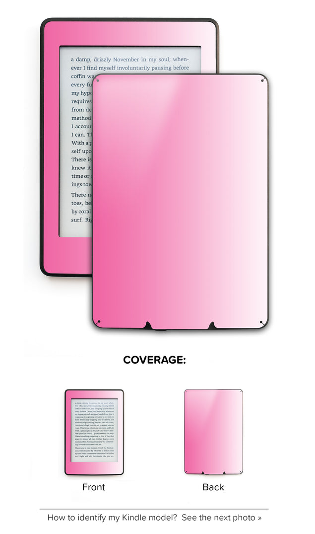 Pink Kiss Ombre Kindle Skin