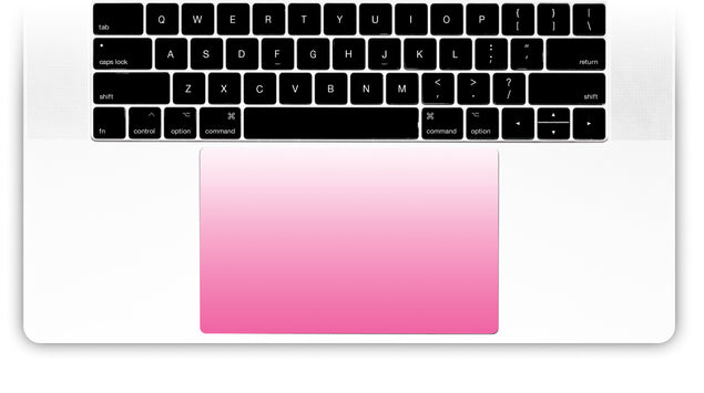 Pink Kiss Ombre MacBook Trackpad Sticker