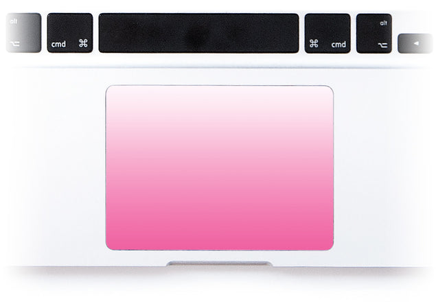 Pink Kiss Ombre MacBook Trackpad Sticker alternate