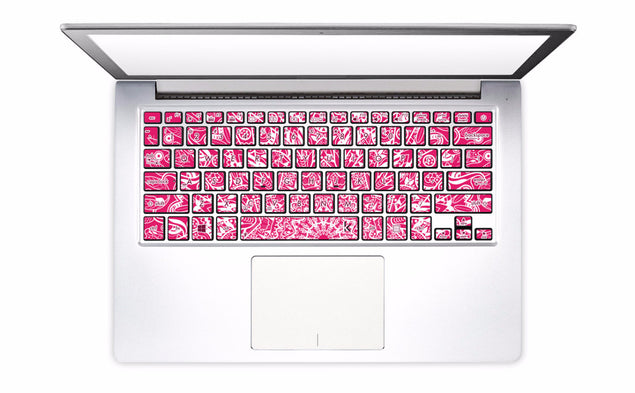 Pink Mandala Laptop Keyboard Decal