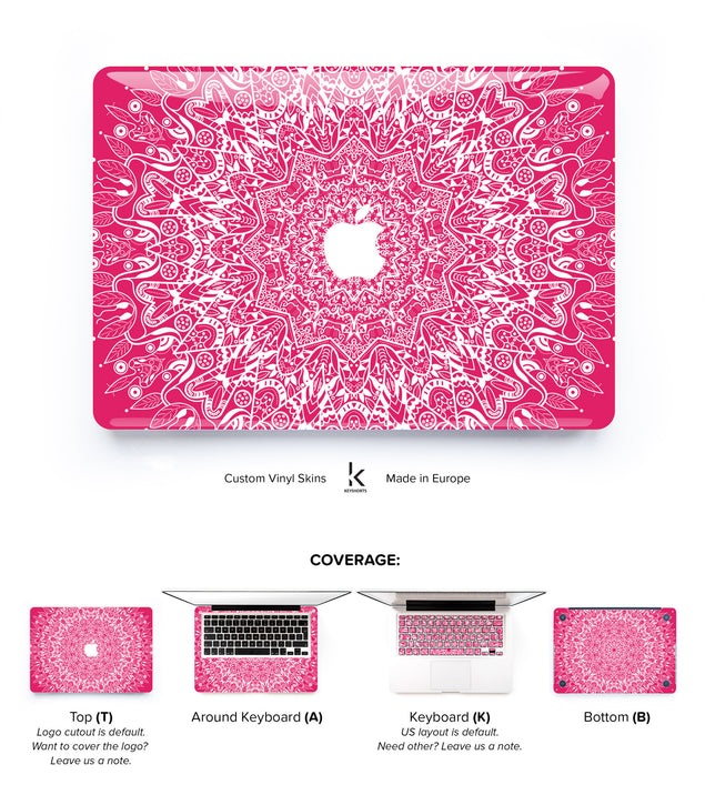 Pink Mandala MacBook Skin at Keyshorts.com