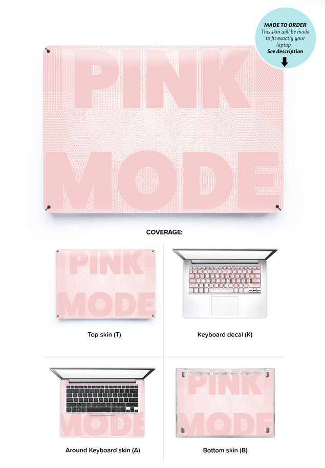 Pink Mode Laptop Skin