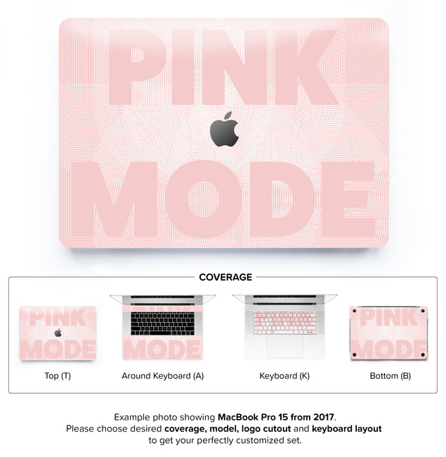 Pink Mode MacBook Skin
